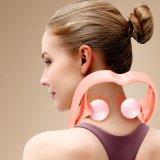 Plastic U Shape Handheld Shoulder Neck Massager Tool Roller Ball Self Massager