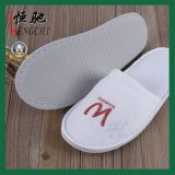 High Quality Logo Pringt White Disposable Hotel Slipper