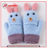 New 2018 Winter Gloves Knitted Children Warm Sheng Qi Gloves Factory Wholesale Plus Velvet Lanyard Cute