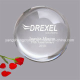 Round Crystal Paperweight & Glass Hemisphere Paperweight Inside Carving