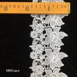 9cm Polyester Blouse Lace Trim for Bridal Dresses with Flower Fringe Customized Trimming Hmhb1005