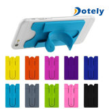 Mix Color Universal Silicone Stick on Credit Card Holder with Phone Stand