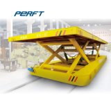 L Shape Railway Truck Material Transport Shuttle with Lifting Table