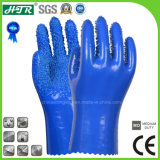 Anti-Slip PVC Chemical Resistant Industrial Safety Work Gloves with Seamless Liner