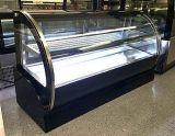 High Efficient Refrigerated Single Arc Glass Door Desktop Display Cake Fridge