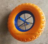Hot Sell 16 Inch Flat Free PU Foam Wheels (4.00-8)
