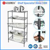 Adjustable Light Duty Steel Kitchen Wire Shelf Rack for Household