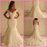 V-Neck Bridal Gowns Mermaid Lace Tulle off Shoulder Wedding Dress S201756