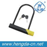 Yh1395 Super Quality Yellow U Shaped Bike Lock Bicycle Lock