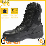 Side Zipper Black Police Tactical Boots