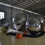Large Double Round Silvery PVC Inflatable Fashion Show Mirror Ball