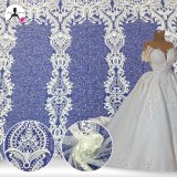 New Design Embroidery Lace with Sequins and Beads for Bridal Dress