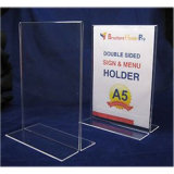 Acrylic T-Shape A4 Desktop Display Stand Sign Holder