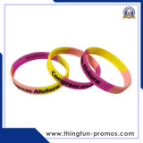 Fashion Customed Prined Logo Embossed Logo Silicone Wristbands for Promotion