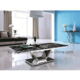 Home Furniture Stainless Steel Marble Top Coffee Table
