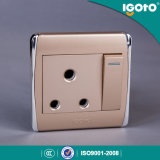 Igoto -New Style Biritish Standard Chorming Frame 15A Wall Switch Socket