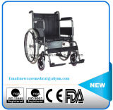 Competitive Price Steel Commode Wheelchair