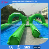 2017 Hot Sell Double Lane Inflatable Water City Slide N Slip
