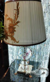 Phine Pd-0836 Crystal Desk Lamp with Fabric Shade