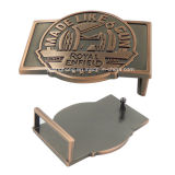 Brushed Anti Bronze Diecasting Zinc Alloy Man Buckle