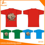Healong Custom Cheap Wholesale Cotton Plain Screen Printing T-Shirt