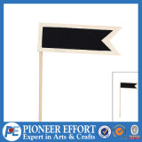 Wooden Flag Shaped Message Board Blackboard for Home Decoration