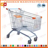 Durable Zinc Plated European Style Shopping Trolley Store Cart (Zht103)