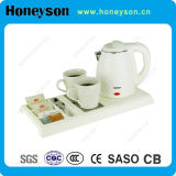 Hotel Double Body Designed Kettle Service Tray Set