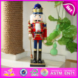Hot 2015 Christmas Toy Wooden Nutcracker, Wooden Christmas Doll Toy for Kids, Cheap Wooden Toy Christmas Toy for Children W02A044A