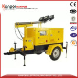 120kw 150kVA ISO9001 AC Three Phase Moved Trailer Type Generator