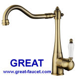 Brass Faucet European Style Kitchen Faucet Kitchen Tap (GL90111A111)
