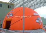 Basketball Shape Inflatable PVC Sport Building Dome Tent