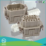 High-Density 18p 500V/16A Male-Female Insert for Heavy-Duty Connector