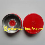 Brightness Red With Two Circles Type Flip off Seal 20mm (HVFT034)