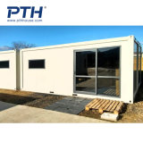 Pth Prefab Container House with Glass Doors (suitable for botanical garden and coffee shop)