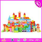 Wholesale Customize 158 Pieces Children Preschool Wooden Educational Building Block Sets W13b039