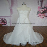 Organza Lace Strapless Bridal Gown