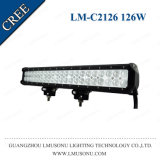 Lmusonu 12V Double Rows Hot Sale Offroad Driving Lamp Straight 22.5 Inch Combo Light Bar LED 126W