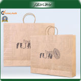 Logo Printing 180GSM Thick Kraft Paper Shopping Bag
