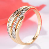 New Fashion Female Wedding Bands Jewelry Gold-Color Engagement Ring