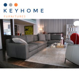 Keyhome Grey Leather Corner Sofa with High Quality