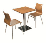 Stainless Steel Fast Food Table and Chair for Restaurant