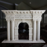 High Quality and Hot Sale Classic Marble Fireplace Mantel Stone