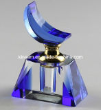 Blue Crystal Glass Perfume Bottle Gift (KS14027)