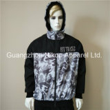 Quality Fashion Printed Mens Hooded Windbreaker Jackets with Cotton Lining