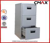 Steel Cabinet 3-Drawers Filing Cabinet Metal Vertical File Storage Office Cabinet Cmax-Fd03-001