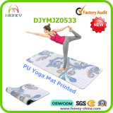 Premium PU Yoga Mat, Printing Size Customizable, Good Grip for Both Wet and Dry