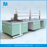 Easy Installation Lab Steel and Wooden Island Bench