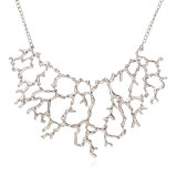 Jewelry Wholesale Exaggerated Alloy Retro Coral Fashion Choker Statement Necklace Jewelry