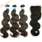 Best Hair Accessory Indian Hair Bundles with Lace Closures Body Wave Virgin Human Hair